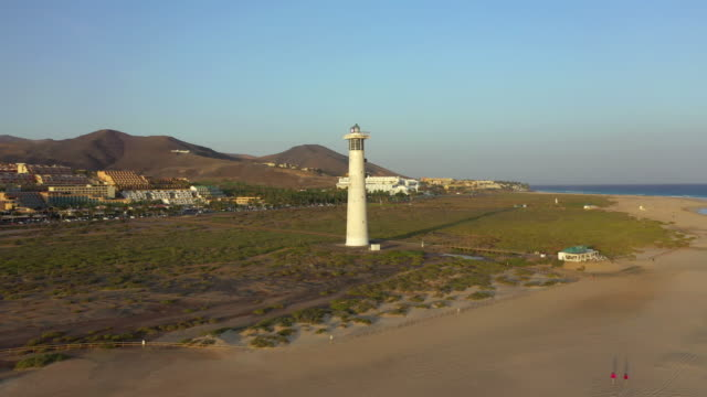 spain, canary islands, fuerteventura, jandia peninsula, morro jable and playa del matorral - atlantik stock-videos und b-roll-filmmaterial