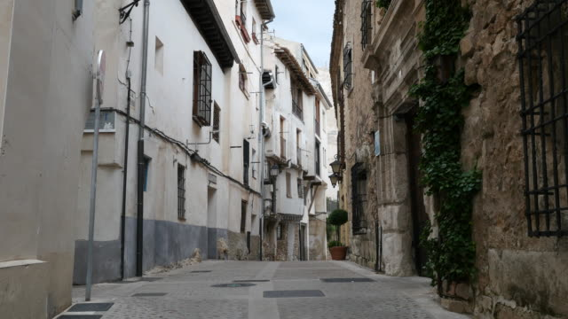 spain cuenca narrow street - town stock videos & royalty-free footage