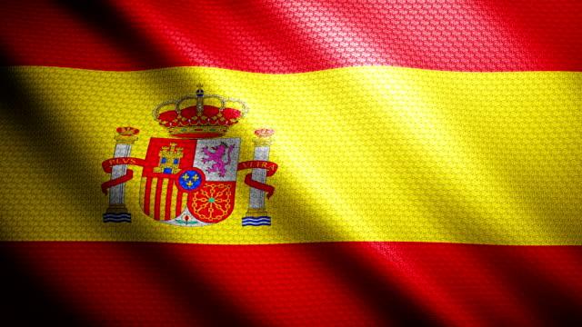 spain flag 4k - spanish flag stock videos and b-roll footage