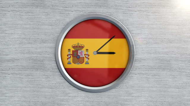spain flag clock timelapse - democracy stock videos and b-roll footage