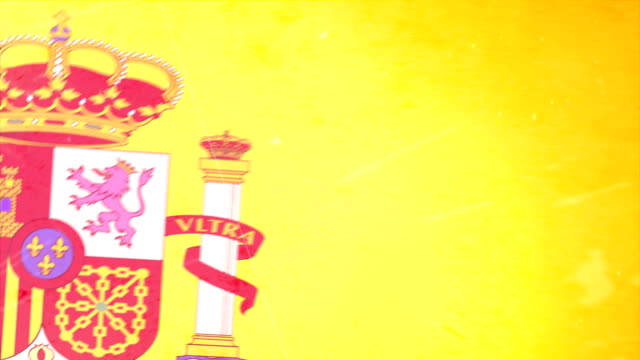 spain flag - grunge. hd - frayed stock videos & royalty-free footage