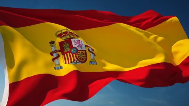 vídeos y material grabado en eventos de stock de 4 k, bandera de españa en bucle - bandera