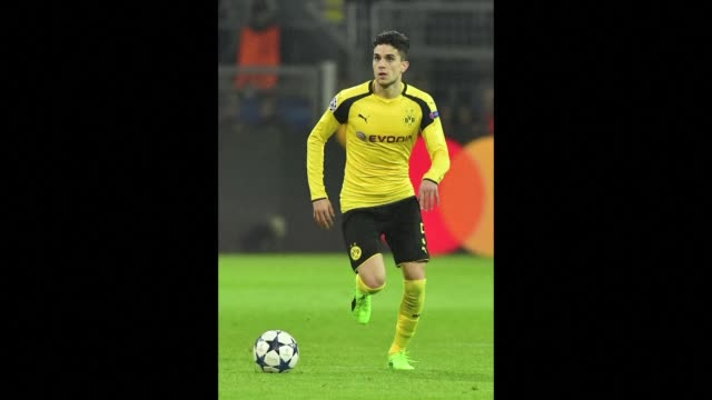 spain international marc bartra is injured in the explosion which hit the borussia dortmund team bus and which saw their champions league game... - borussia dortmund stock videos and b-roll footage