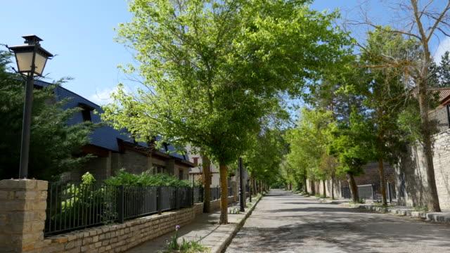 spain la virgen de la vega street - 樹木点の映像素材/bロール