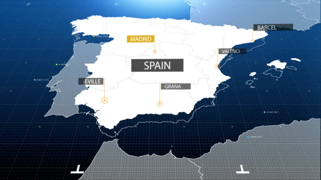 spain map with label then with out label - spain stock videos & royalty-free footage