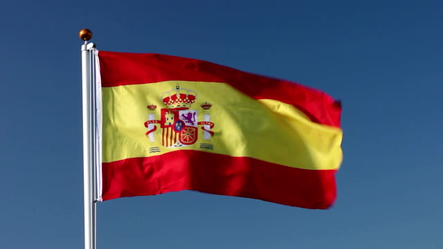 spain national flag - spanish flag stock videos and b-roll footage