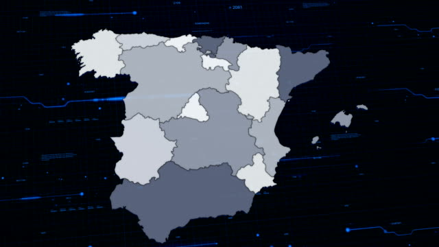 Spain network map
