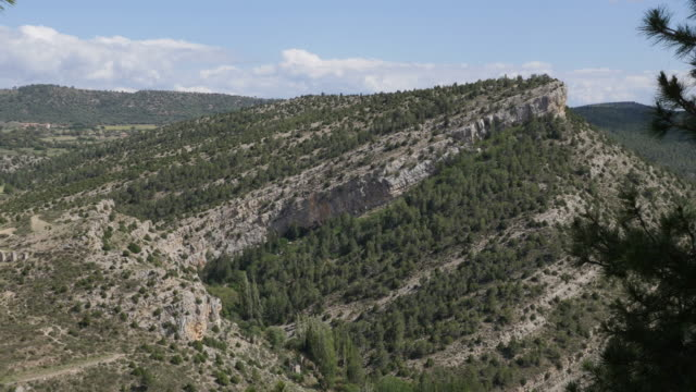 spain sierra de gudar tilted strata - rock strata stock videos & royalty-free footage