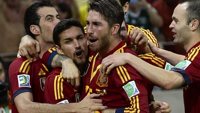 spain will play brazil in the final of the confederations cup after beating italy 76 on penalties in the second semi final in fortaleza on thursday... - horizonte stock videos & royalty-free footage
