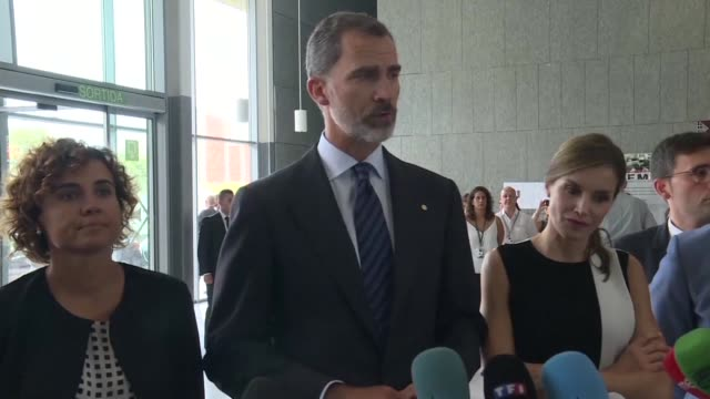 spain's king felipe asserted on saturday that the cowardly attack on barcelona and cambrils which left 14 dead will not overcome the spanish people - cambrils stock videos & royalty-free footage
