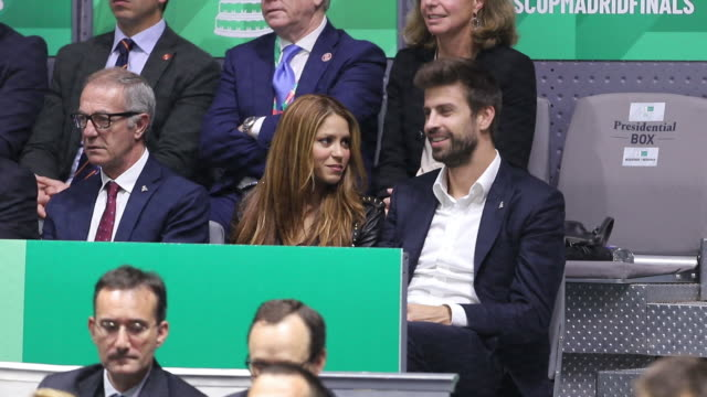 spain's king felipe vi spanish sports and culture minister jose guirao colombian singer shakira and her husband barcelona's spanish defender and... - shakira stock videos & royalty-free footage