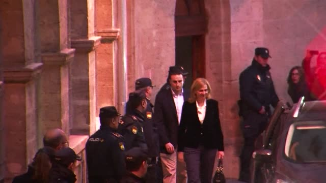 spain's princess cristina left court under the gaze of the world's media on saturday after she was questioned about fraud accusations in a historic... - social justice concept video stock e b–roll