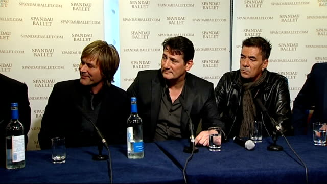 spandau ballet press conference; - we could do a private gig. - we hadn't been in a room together in 18 years. we did it in bits and pieces. wanted... - doing a favour stock videos & royalty-free footage