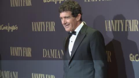 spanish actor antonio banderas attends the vanity fair awards 2019 - antonio banderas video stock e b–roll