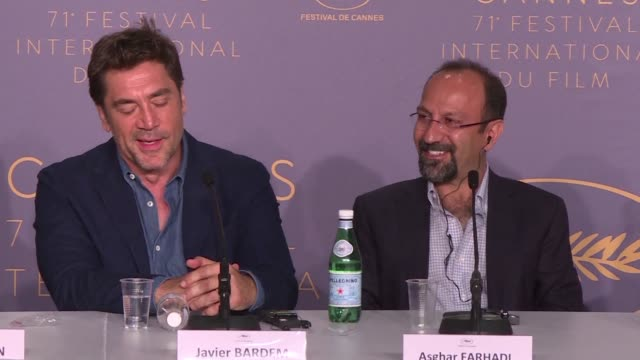 Spanish actor Javier Bardem shoots down a journalist's sexist question during the press conference for Everybody Knows in which he acts alongside his...