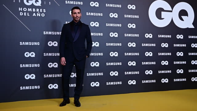 spanish actor miguel angel silvestre attends 'gq men of the year' awards 2019 at palace hotel on november 21, 2019 in madrid, spain. - silvestre stock videos & royalty-free footage