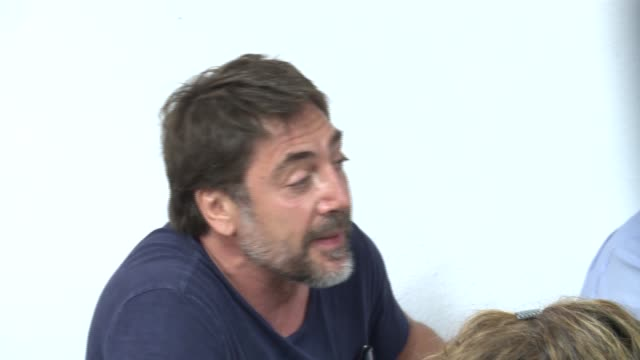 spanish actor willy toledo attends a press conference with actors javier bardem and alberto san juan at san carlos borromeo church - javier bardem stock videos and b-roll footage