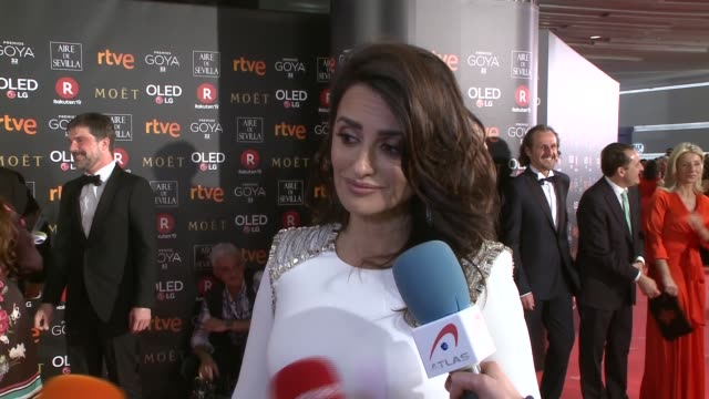 Spanish actress Penelope Cruz attends Goya Cinema Awards 2018 at Madrid Marriott Auditorium