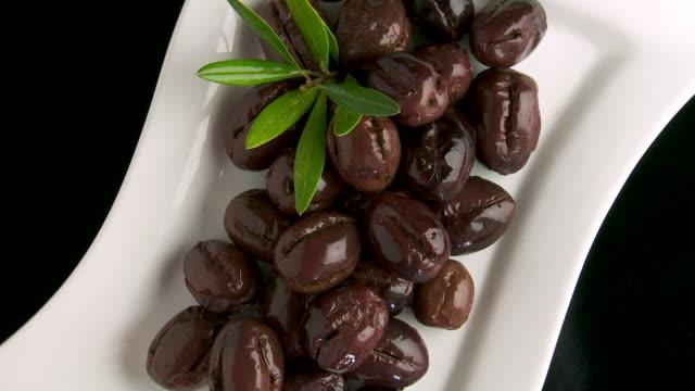 spanish black olives - marinated stock videos & royalty-free footage