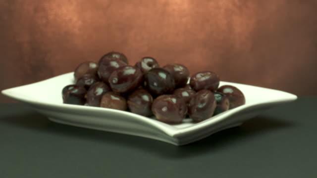 spanish black olivesmarinated black olives - marinated stock videos & royalty-free footage