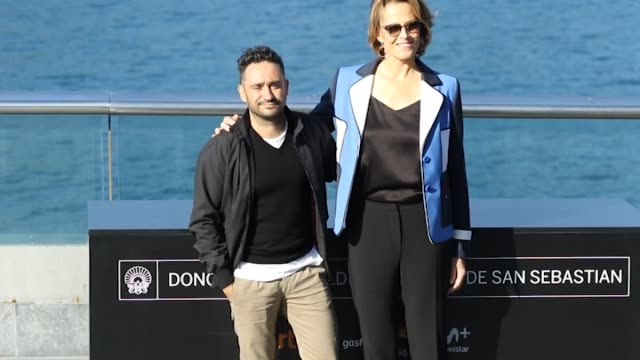 A Spanish director Juan Antonio Bayona and actress Sigourney Weaver attend 'A Monster Call' photocall during 64th San Sebastian International Film...