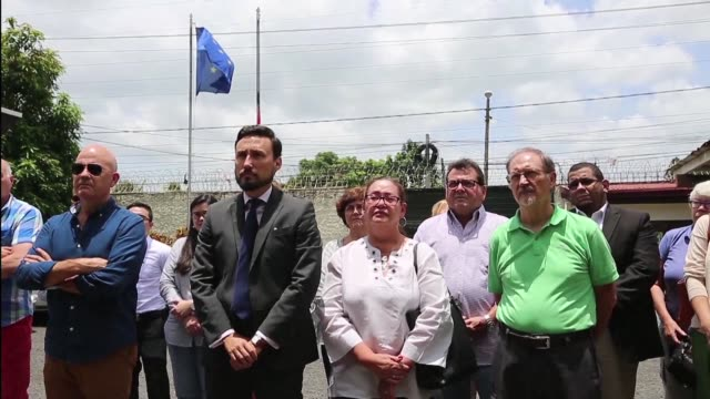 spanish embassy to nicaragua's diplomats and locally employed personnel gathered friday in managua nicaragua to honor the 14 victims of yesterday's... - managua stock videos & royalty-free footage
