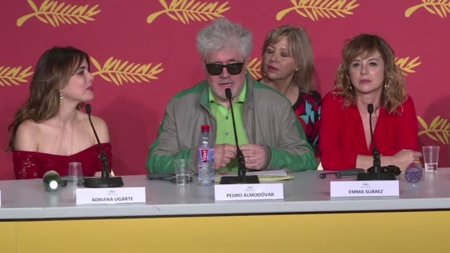 vídeos y material grabado en eventos de stock de spanish filmmaker pedro almodovar shortlisted for the prestigious palme d'or at the cannes film festival for a fifth time with his new feature... - woody allen