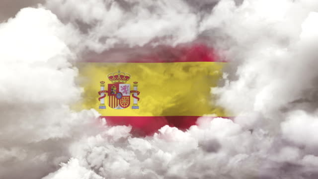 スペイン国旗 - 4k解像度 - スペイン国旗点の映像素材/bロール