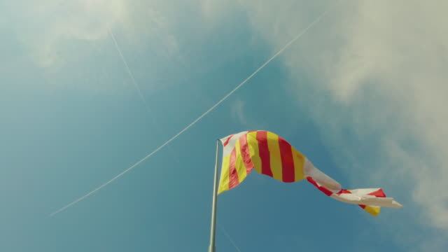 spanish flag and catalonia - spanish flag stock videos and b-roll footage