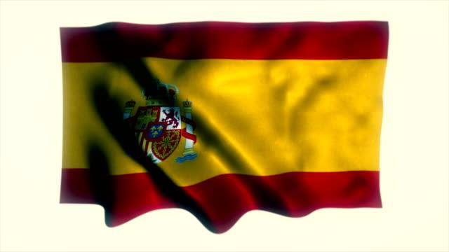 spanish flag, flag of spain - spanish flag stock videos and b-roll footage