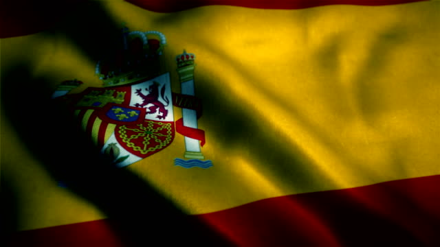 spanish flag, flag of spain - digital enhancement stock videos & royalty-free footage