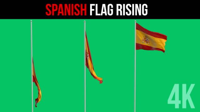 スペイン国旗 - スペイン国旗点の映像素材/bロール