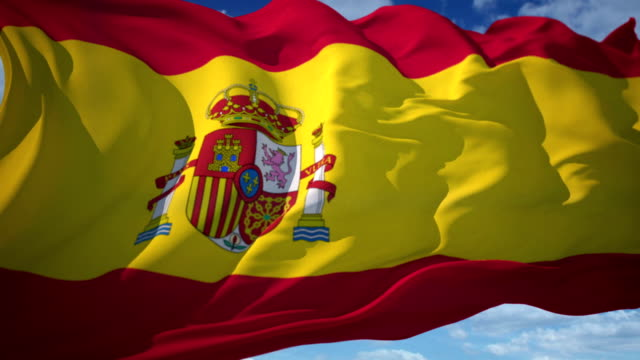 spanish flag - national flag stock videos & royalty-free footage