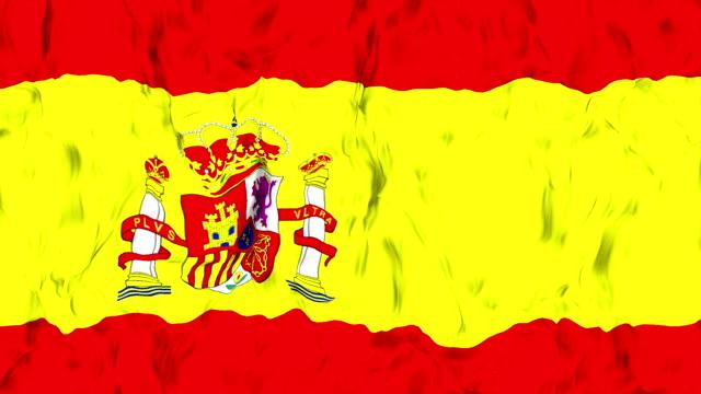 spanish flag - spanish flag stock videos and b-roll footage