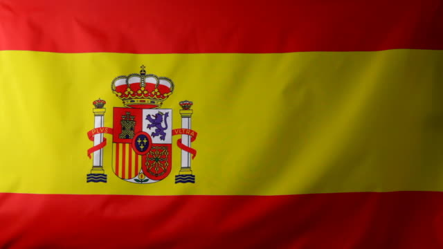 cu spanish flag waving / berlin, germany - spanish flag stock videos and b-roll footage