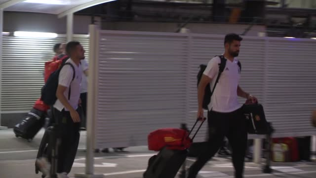 Spanish Football Team Arrives From Russia 2018 World Cup arrives at Barajas Adolfo Suarez international airport a day after Spain lost a Russia 2018...
