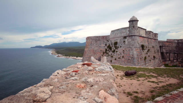 spanish fort in cuba - fortress stock videos & royalty-free footage