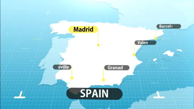 vídeos y material grabado en eventos de stock de mapa español - mapa