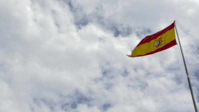 spanish national flag - spanish flag stock videos and b-roll footage
