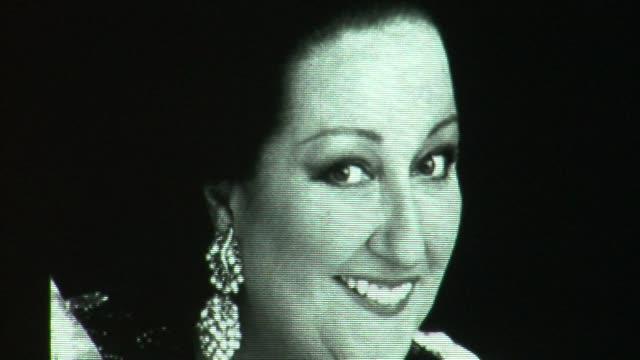spanish opera singer montserrat caballe received the international medal of the arts 2012 award on monday from madrids regional president ignacio... - montserrat caballé stock videos & royalty-free footage