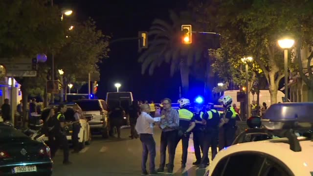 spanish police shoot dead five suspects in cambrils a city 120 kilometres south of barcelona hours after a van mowed down dozens killing at least 13... - cambrils stock videos & royalty-free footage