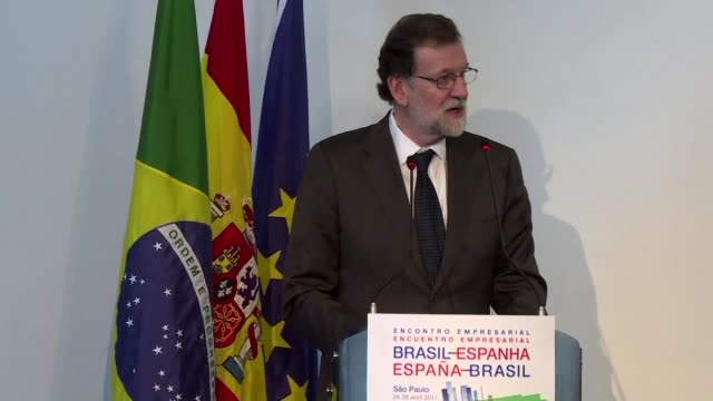 spanish prime minister mariano rajoy called tuesday for the european union to sign a free trade deal by the end of the year with south american bloc... - mercosur stock videos & royalty-free footage