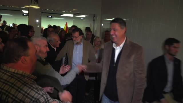 Spanish Prime Minister Mariano Rajoy making his first visit to Catalonia since the Catalan government were sacked