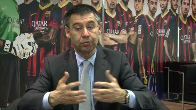 spanish prosecutors are requesting a prison sentence of two years and three months for barcelona president josep maria bartomeu and seven for his... - procuratore video stock e b–roll