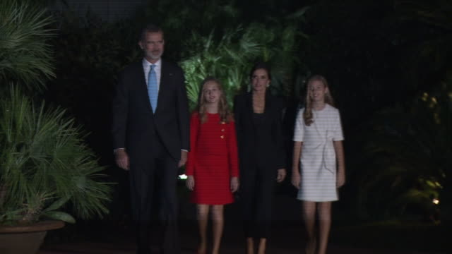 spanish royals attend 'princesa de girona' foundation awards - attending stock videos & royalty-free footage