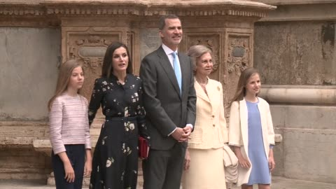 spanish royals attend the holy week mass in palma de mallorca - religion stock videos & royalty-free footage