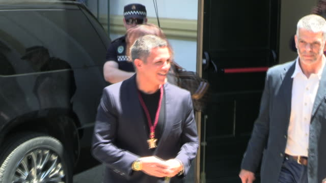 spanish singer and songwriter alejandro sanz showes his golden city medal of the city of seville at lope de vega theatre - songwriter stock videos & royalty-free footage