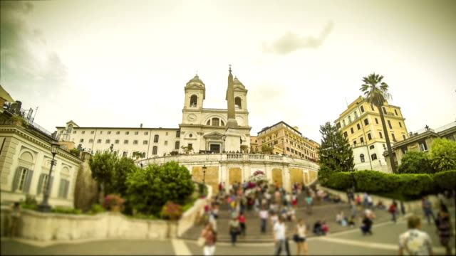 Spanish Steps and Trinita dei Monti  Timelapse in Rome