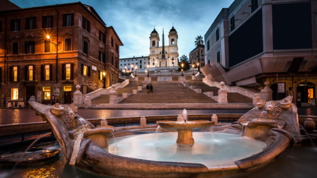 stockvideo's en b-roll-footage met piazza di spagna, rome, italië - time-lapse - stadsplein