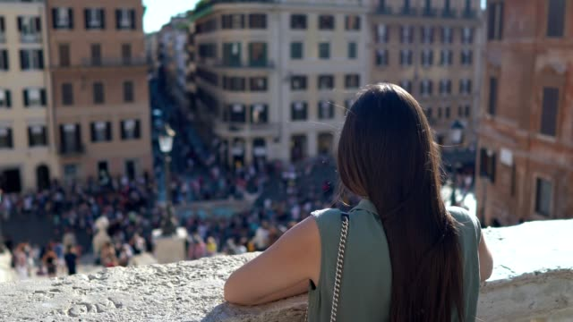 spanish steps, rome - city break stock videos & royalty-free footage